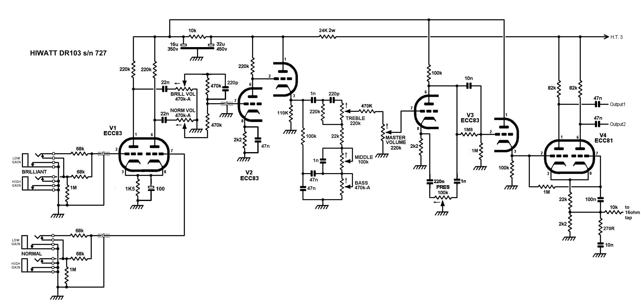 MHuss Hiwatt Amplifier Pages - Tech Info